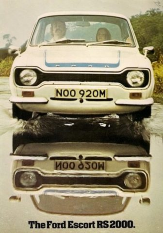 Picture of a Ford Mk1 RS2000 from the original sales brochure